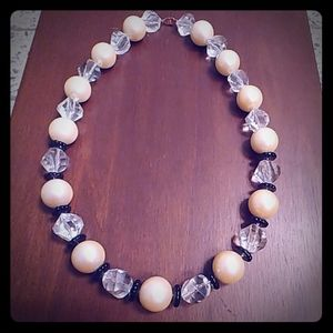 Vintage Monet Pearl Beaded Statement Necklace